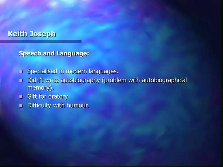 Keith Joseph