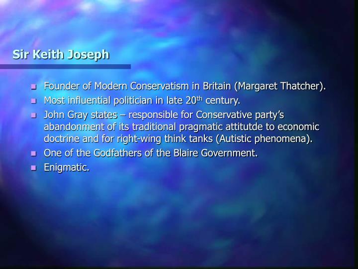 Sir Keith Joseph