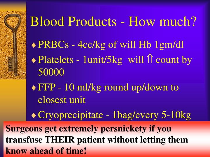 Blood Products - How much?