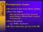 postoperative issues