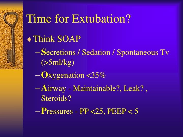 Time for Extubation?