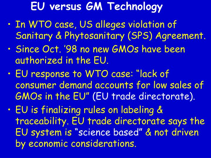 EU versus GM Technology