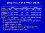 simulation world wheat model