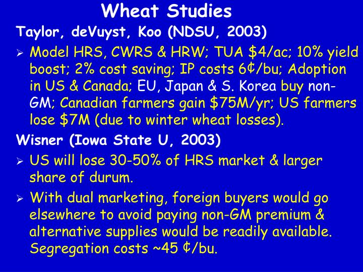 Wheat Studies