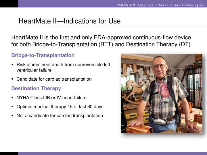 HeartMate II—Indications for Use