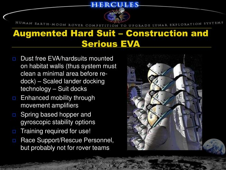 Augmented Hard Suit – Construction and Serious EVA