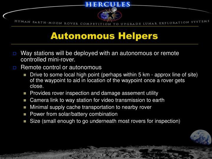 Autonomous Helpers