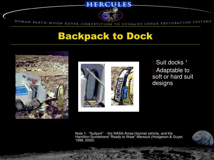 Backpack to Dock