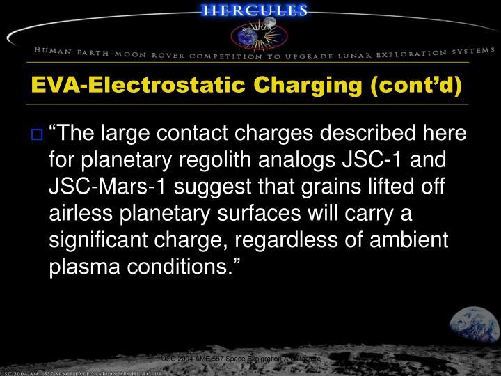 EVA-Electrostatic Charging (cont'd)