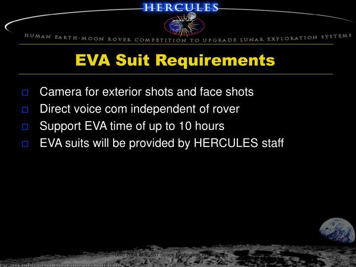 EVA Suit Requirements