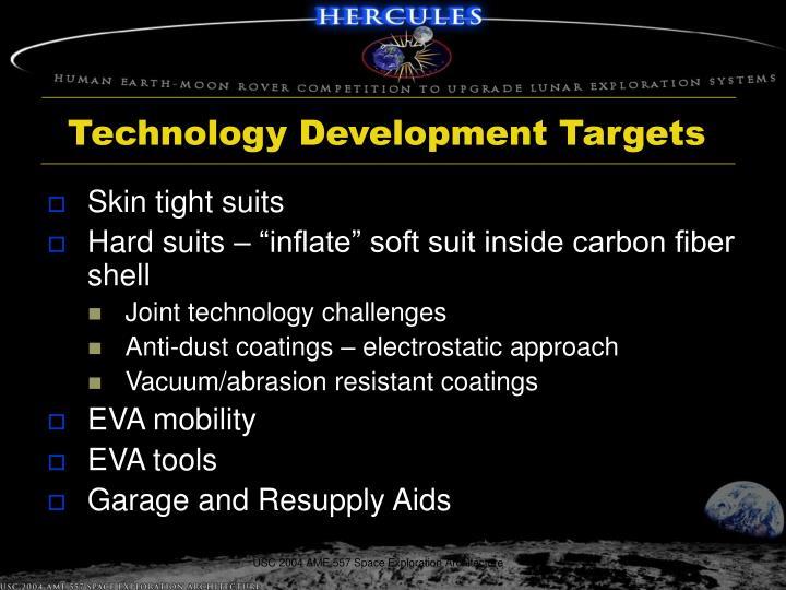 Technology Development Targets