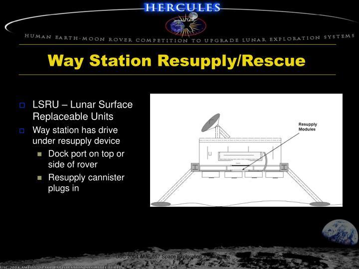 Way Station Resupply/Rescue