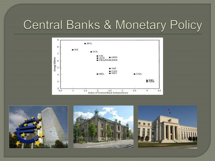 Central Banks & Monetary Policy