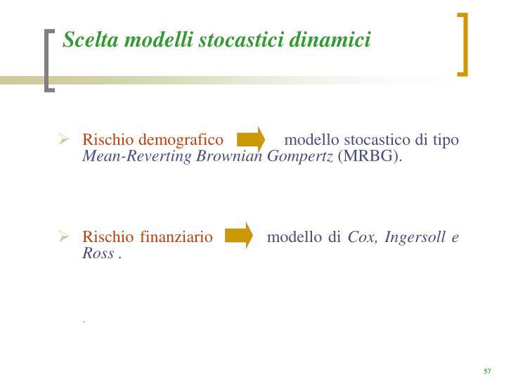 Scelta modelli stocastici dinamici