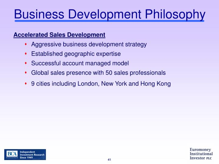Business Development Philosophy