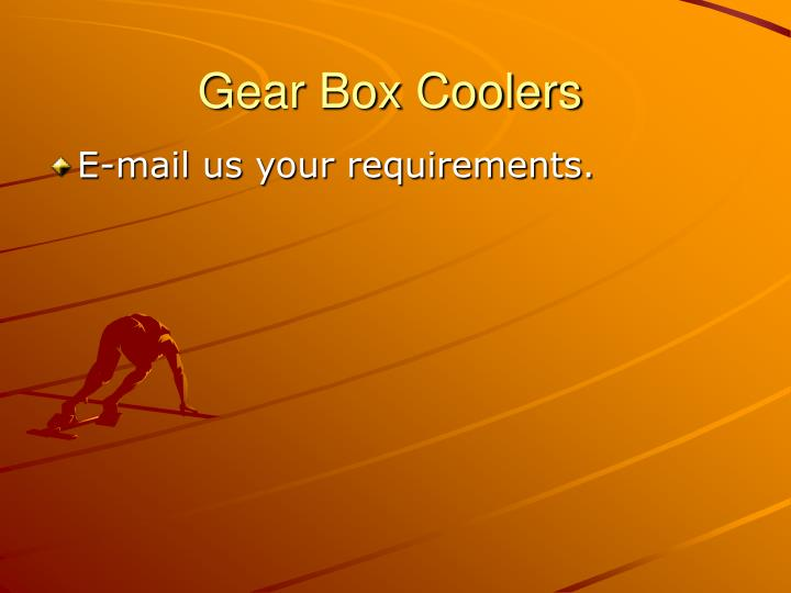 Gear Box Coolers