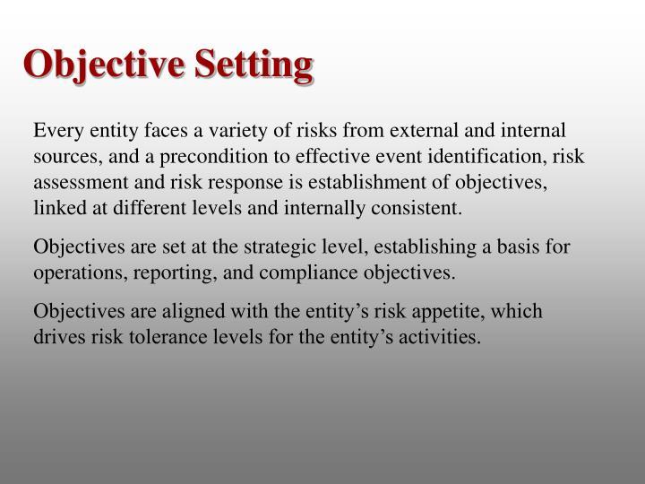 Objective Setting