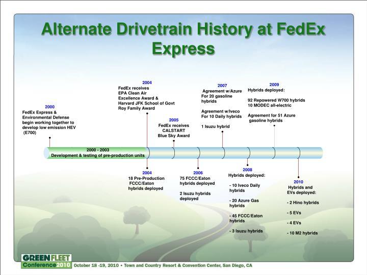Alternate Drivetrain History at FedEx Express