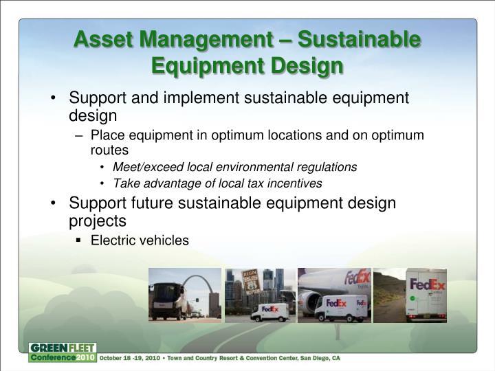 Asset Management – Sustainable Equipment Design