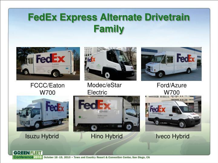 FedEx Express Alternate Drivetrain Family