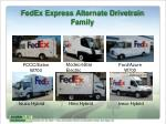 fedex express alternate drivetrain family