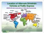 location of alternate drivetrain vehicles at fedex express