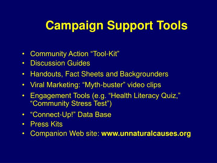 Campaign Support Tools