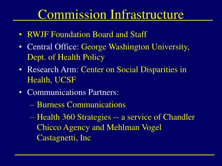 Commission Infrastructure