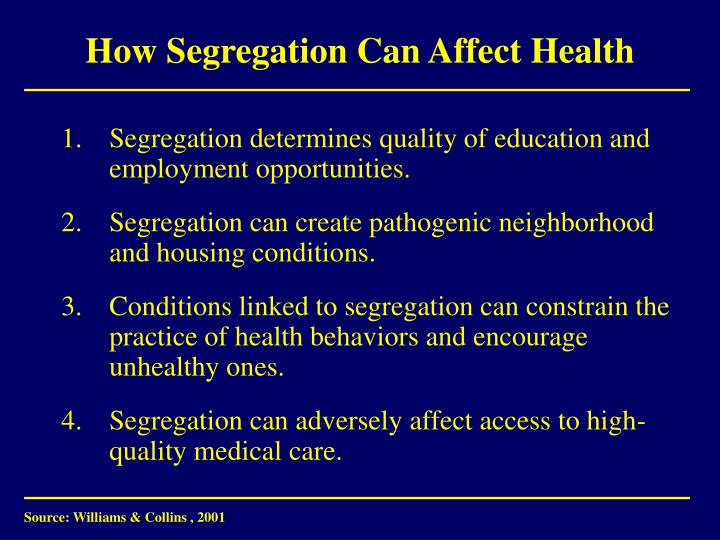 How Segregation Can Affect Health