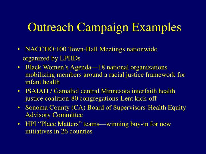 Outreach Campaign Examples