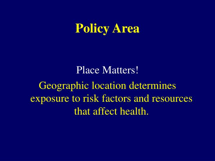 Policy Area