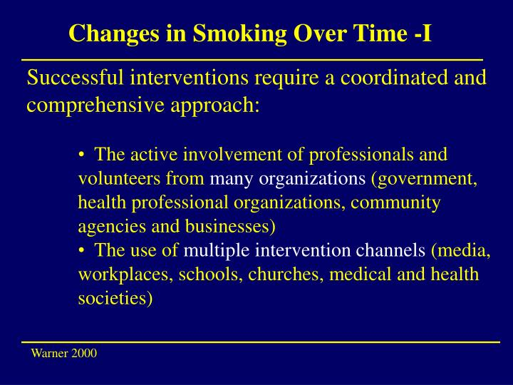 Changes in Smoking Over Time -I