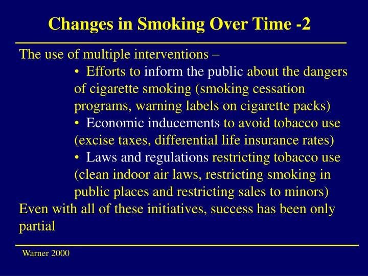 Changes in Smoking Over Time -2