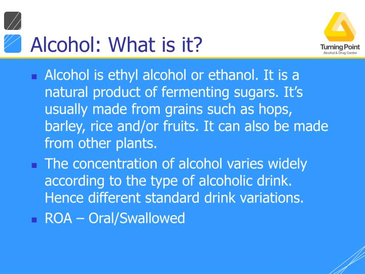 Alcohol: What is it?