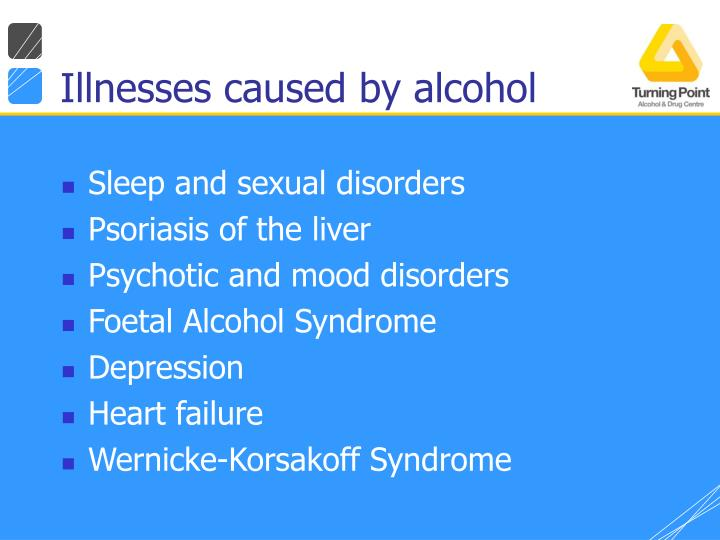 Illnesses caused by alcohol