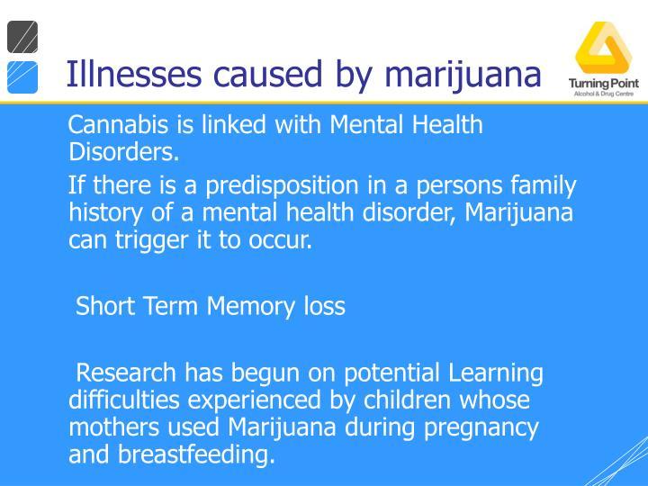 Illnesses caused by marijuana