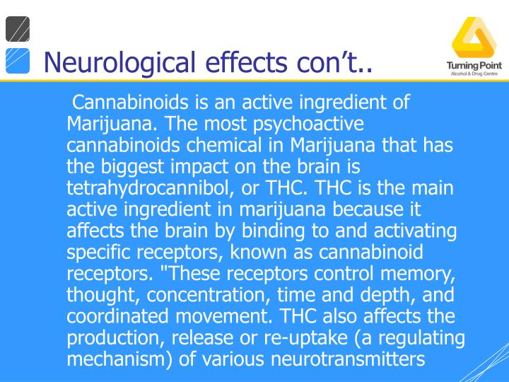 Neurological effects con't..