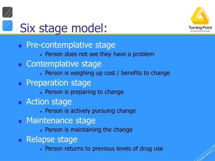 Six stage model:
