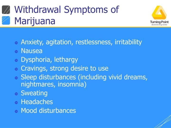 Withdrawal Symptoms of Marijuana