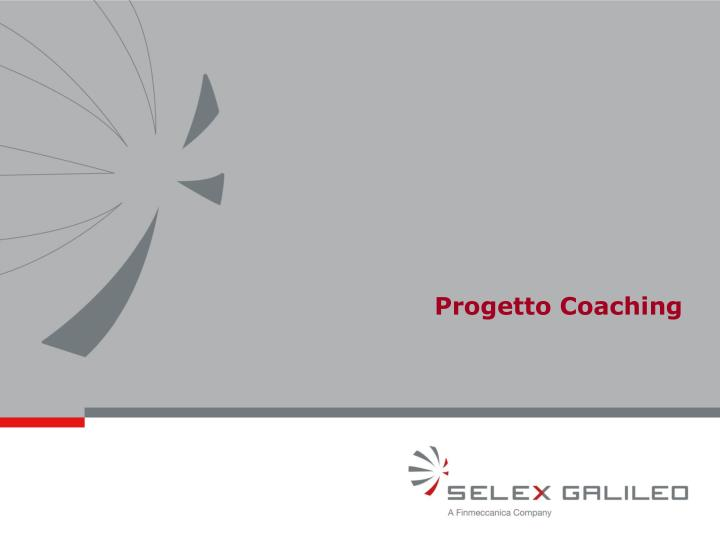 Progetto Coaching
