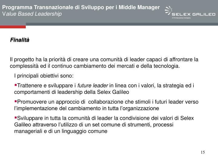 Programma Transnazionale di Sviluppo per i Middle Manager