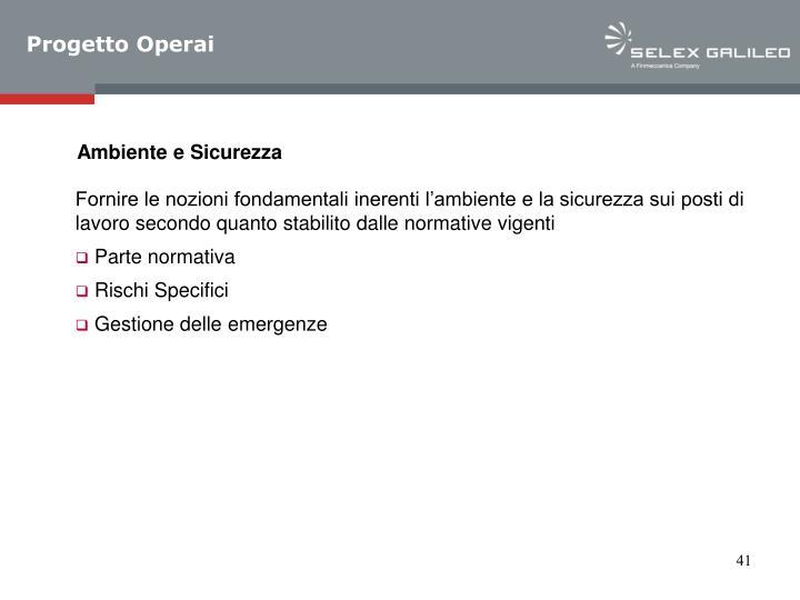 Progetto Operai
