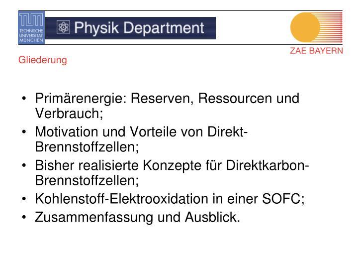 Primärenergie: Reserven, Ressourcen und Verbrauch;