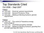 top standards cited oct 2006 sept 2007