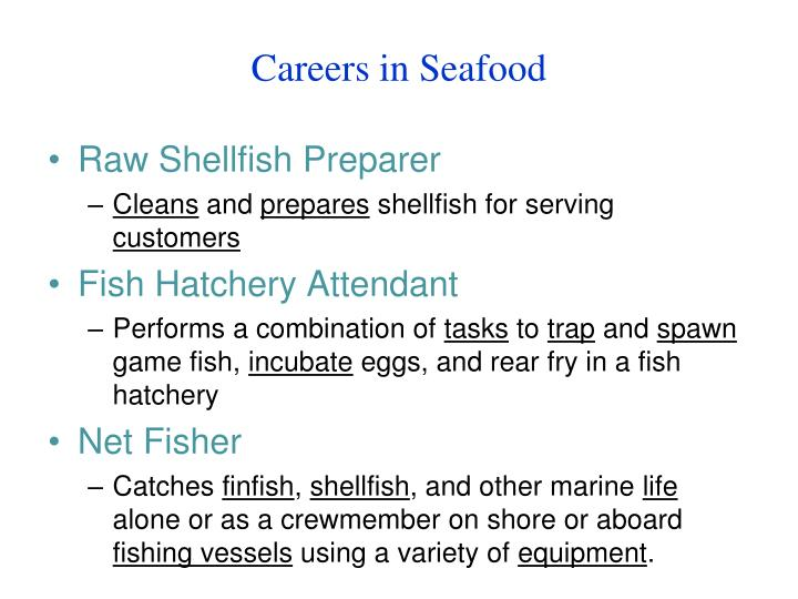 Careers in Seafood