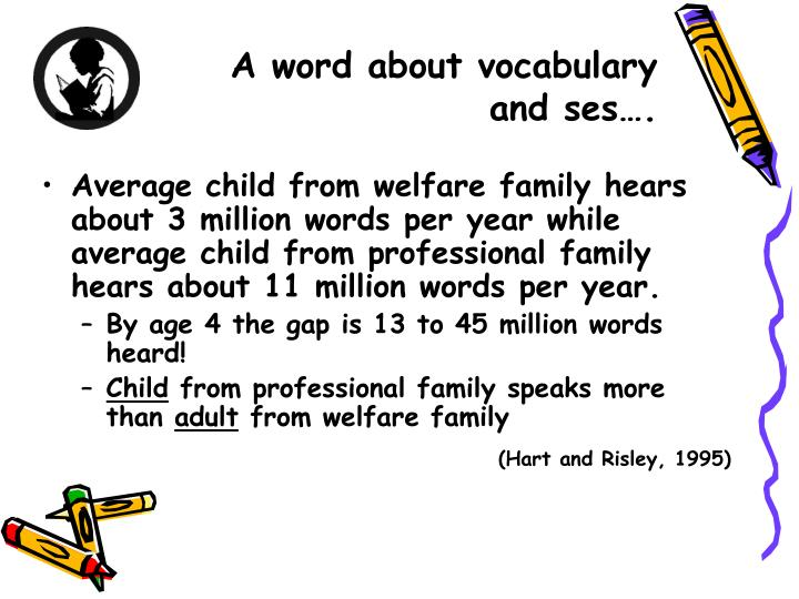 A word about vocabulary