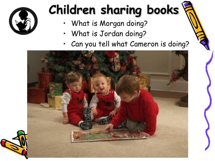 Children sharing books