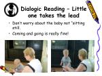dialogic reading little one takes the lead