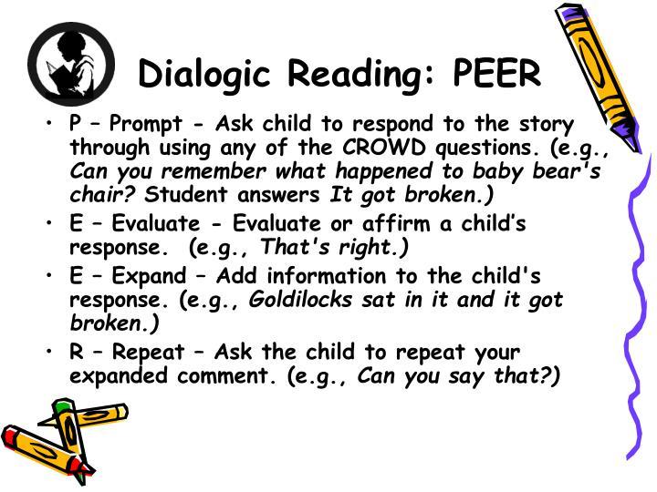 Dialogic Reading: PEER