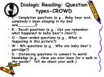 dialogic reading question types crowd